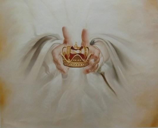 Die Krone der Sohnschaft - Original Öl auf Leinwand