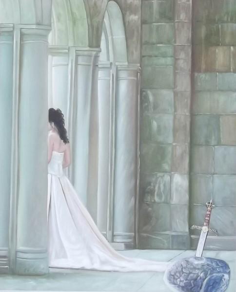 Die Wächter Braut - Original Öl auf Leinwand